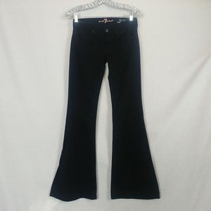 7 For All Mankind sz 26 Black Low Rise Bell Bottom